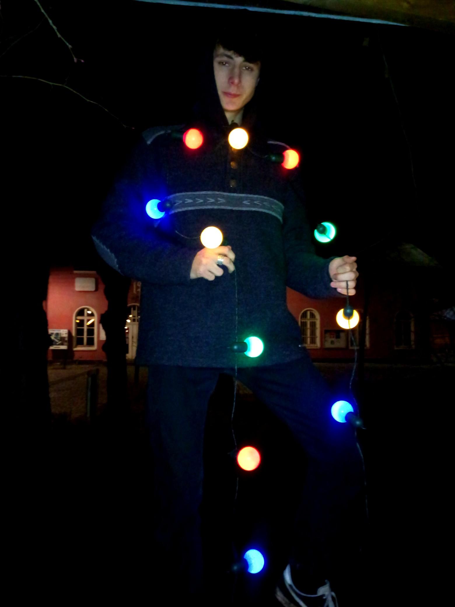 Sehr dekorativ - die Lichterkette brauchen wir aber leider fürs...