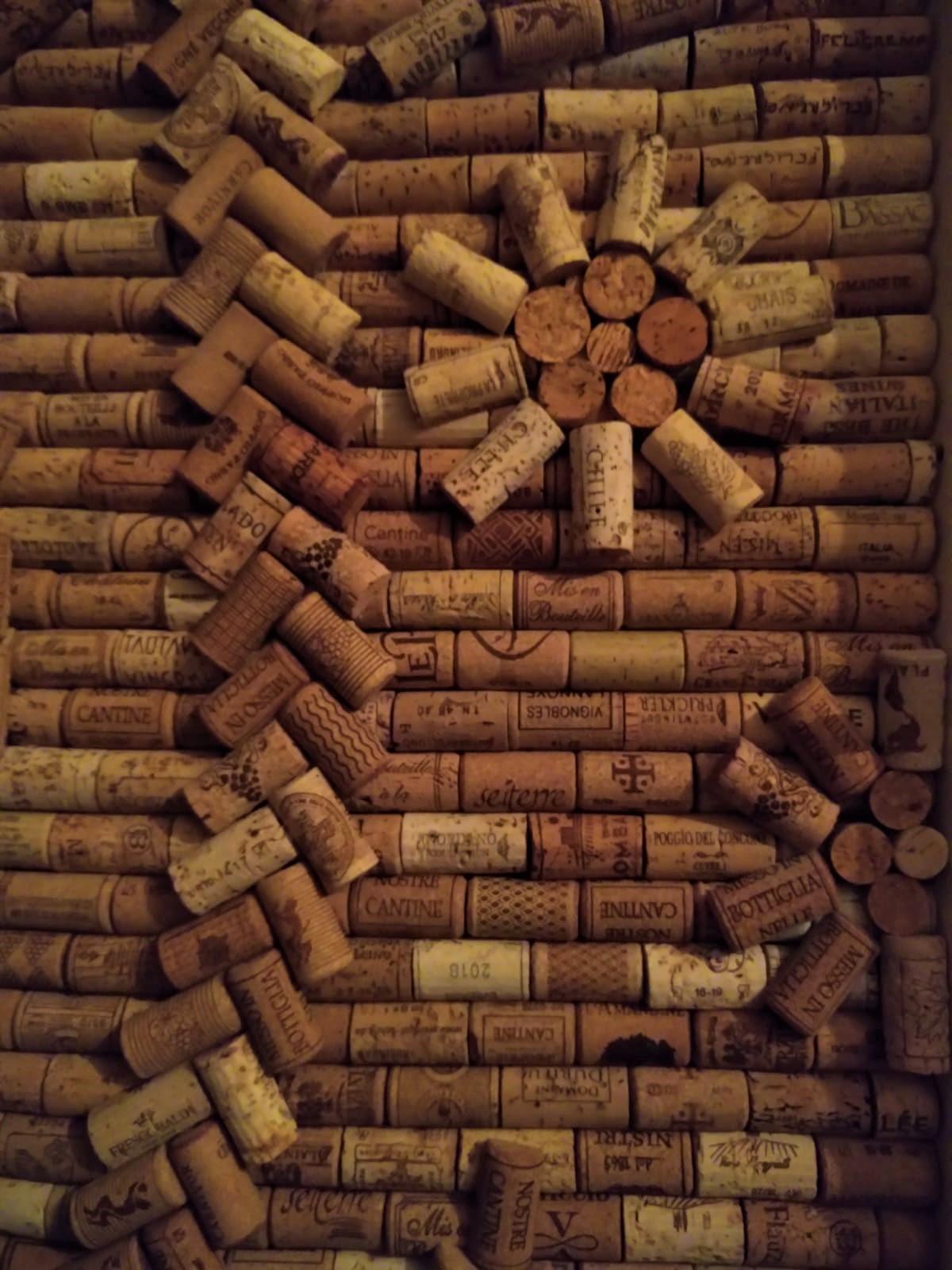 Weinkorken Tür