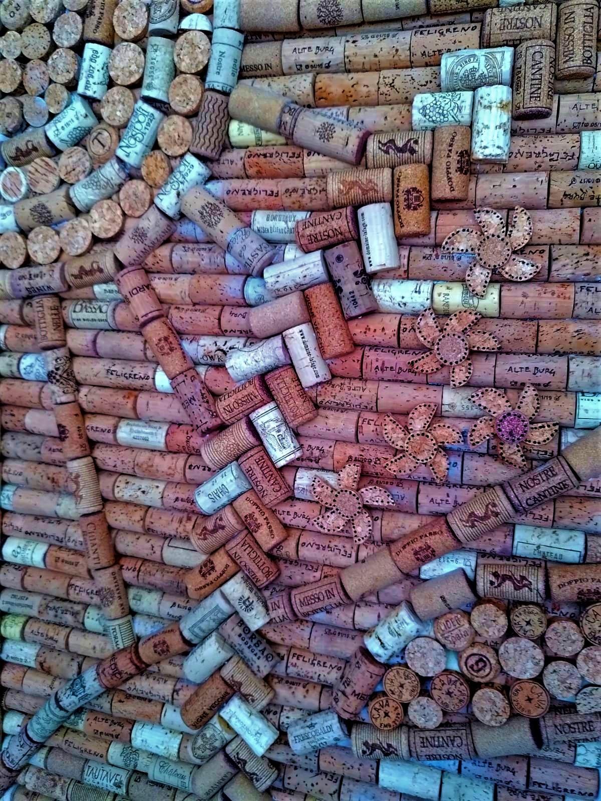 wine cork door DIY
