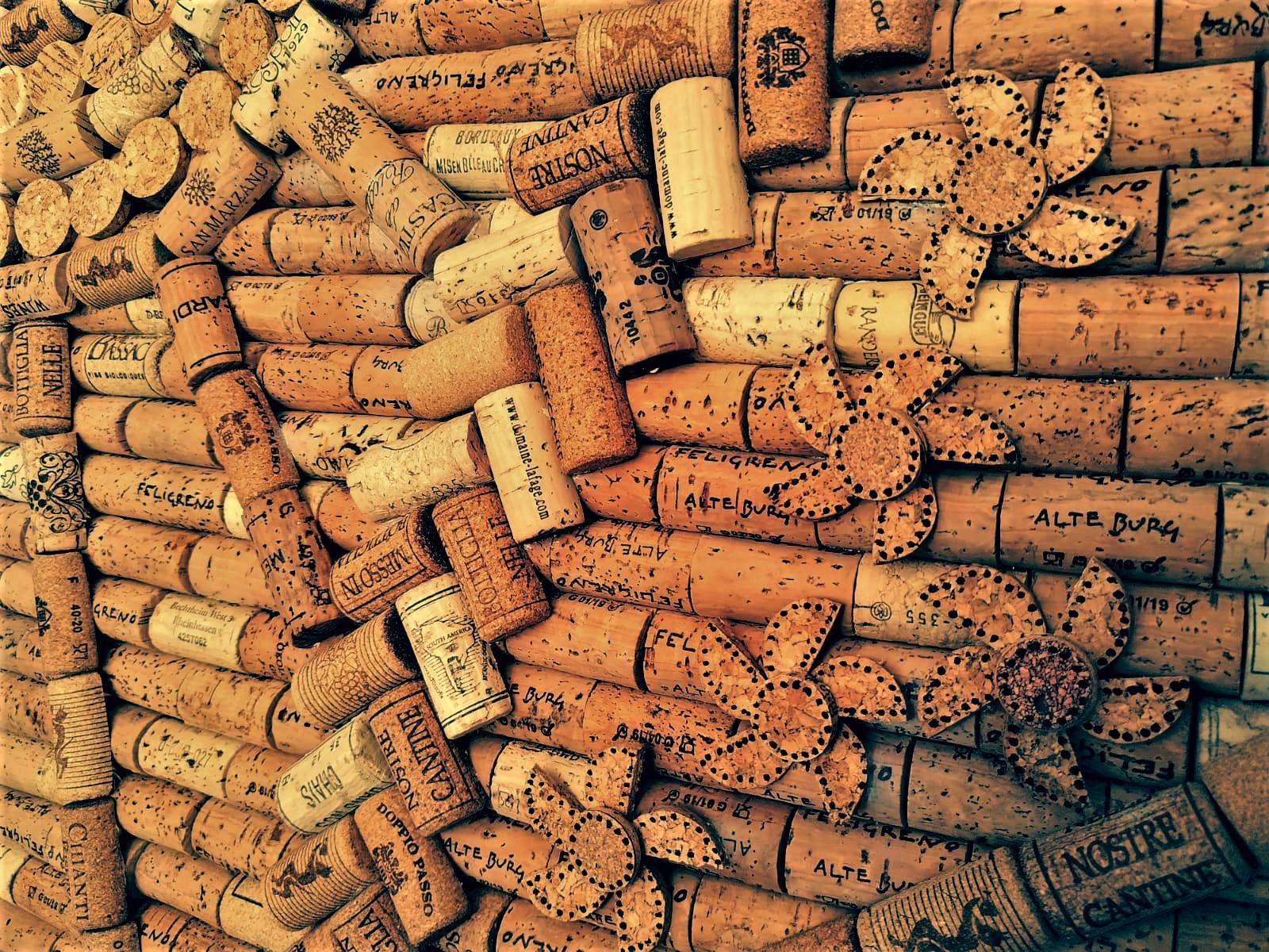 wine cork DIY door
