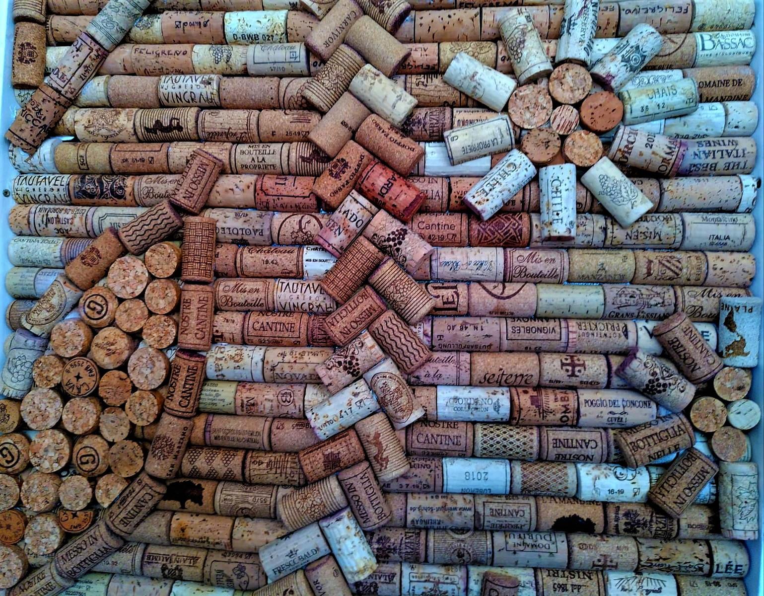 Wine cork door